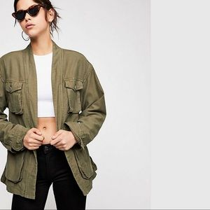 FREE PEOPLE In -Our- Nature Cargo Jacket NWT